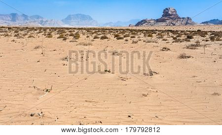 Sphinx Rock In Wadi Rum Desert