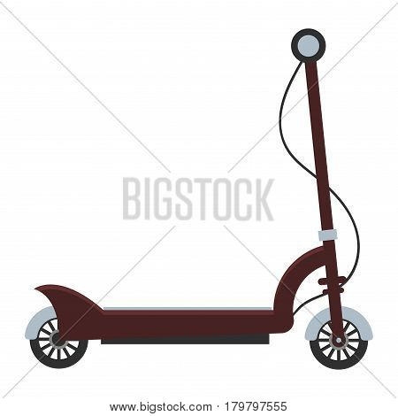 Electric scooter isolated roller balance bike. Self-balancing scooter eco alternative transport. Flat design