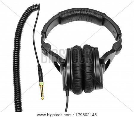 Audio headphones isolated on a white background