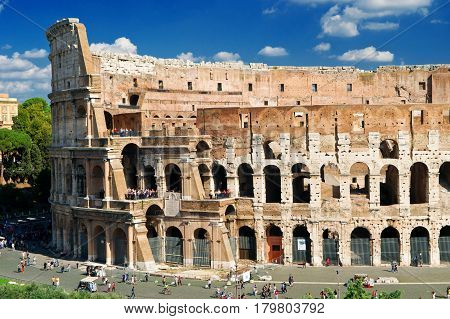 View of Colosseum (Coliseum) in Rome, Italy
