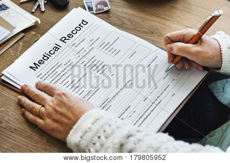 Medical Patient Report Form Record History Information Word