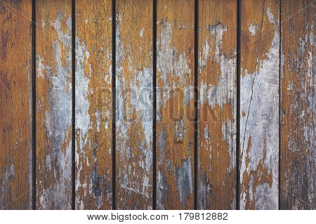 Grey and orange background with wooden texture horizontal top view isolated vintage dark wood backdrop old light blue rustic board space blank back on the table mockup nuture wall