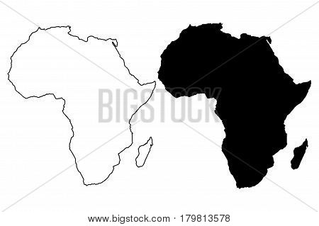 map of Africa vector illustration , Africa