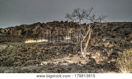 Lava fields around Erta Ale volcano in Danakil Afar Ethiopia