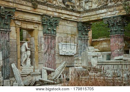 The Old Roman Ruins in Austria .