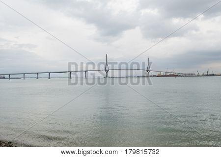Cadiz new bridge view called Pepa or the 1812 Constitution Andalucia Spain