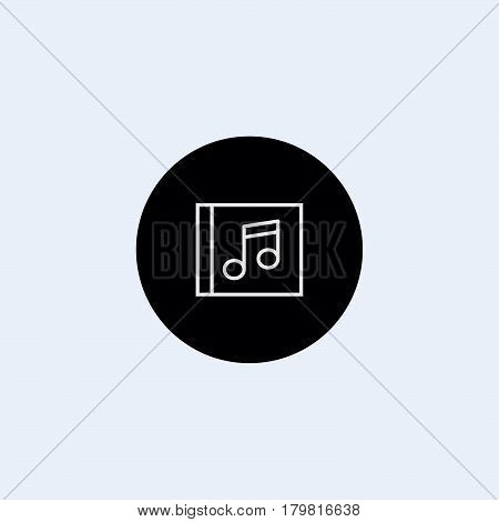 Music note icon stock vector illustration flat design