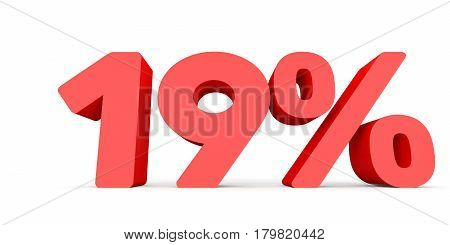 Nineteen Percent Off. Discount 19 %.