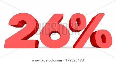 Twenty Six Percent Off. Discount 26 %.
