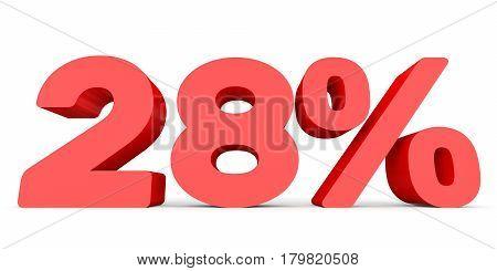 Twenty Eight Percent Off. Discount 28 %.