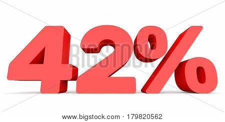 Forty Two Percent Off. Discount 42 %.