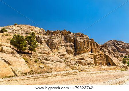 Obelisk Tomb and the Triclinium at Petra - Jordan