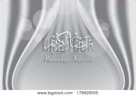 ramadan backgrounds vectorArabic Islamic calligraphy of Ramadan kareem on grey curtian background.