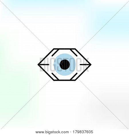 Creative vision vector logo in a modern style.