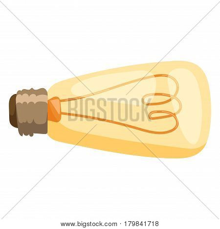 Glowing yellow light bulb as inspiration concept and energy power. Yellow light bulb electricity and power energy electric yellow light bulb. Innovation solution invention light.