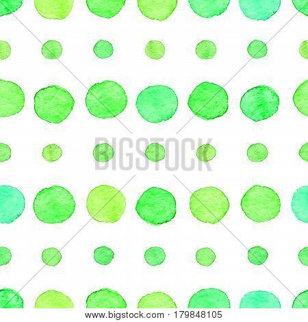 Seamless Watercolor Dots Pattern