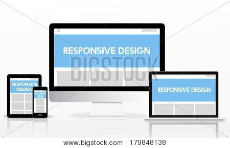 Responsive Design Layout Internet Concept