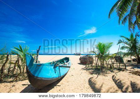 tropical beach in Sri Lanka