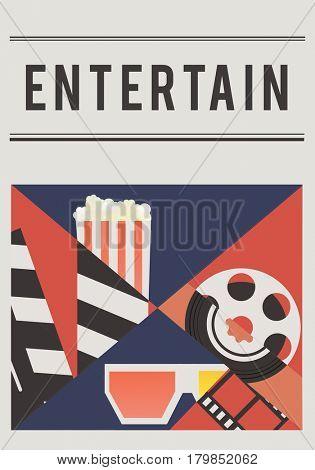 Illustration of movies theatre media entertainment