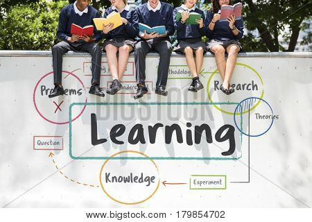 School education study process diagram