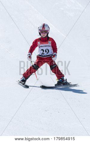 Leonor Carvalho During The Ski National Championships