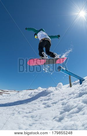 Rita Rainho During The Snowboard National Championships