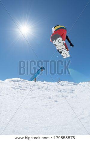 Michael Cruz During The Snowboard National Championships