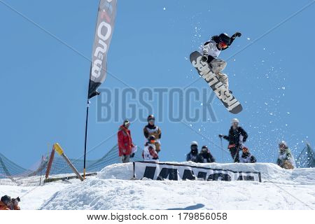 Robinson Weiske During The Snowboard National Championships