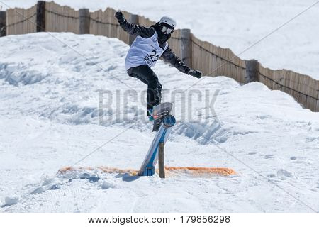 Barbara Almeida During The Snowboard National Championships