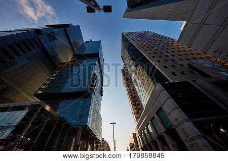Tel-aviv - 9 December, 2016: Tall Buildings In Tel Aviv City Center