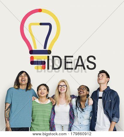 Ideas creative innovation sign insight