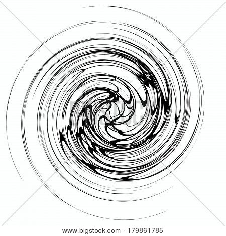 Shape With Spiral Distortion. Rotating Geometric Element