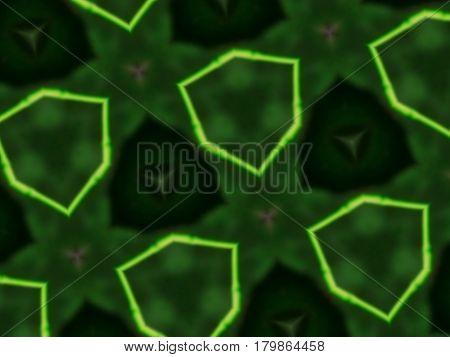 Abstract Mandala Background Asymmetric Hexagon