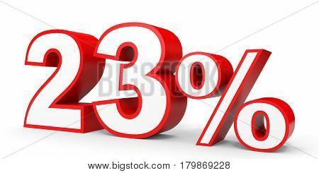 Twenty Three Percent Off. Discount 23 %.