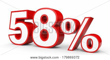 Fifty Eight Percent Off. Discount 58 %.