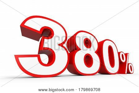 Three Hundred And Eighty Percent. 380 %. 3D Illustration.