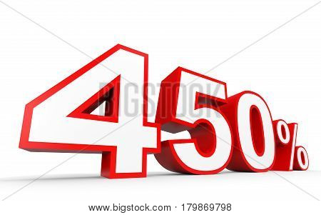 Four Hundred And Fifty  Percent. 450 %. 3D Illustration.