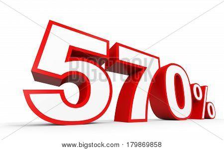 Five Hundred And Seventy Percent. 570 %. 3D Illustration.
