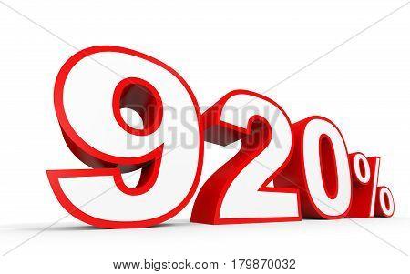 Nine Hundred And Twenty Percent. 920 %. 3D Illustration.