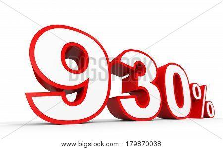 Nine Hundred And Thirty Percent. 930 %. 3D Illustration.