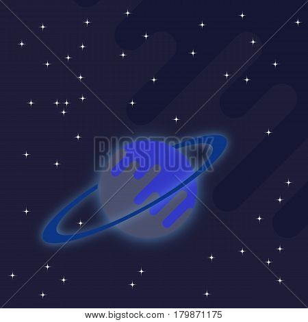 abstract vector space Saturn star background pattern