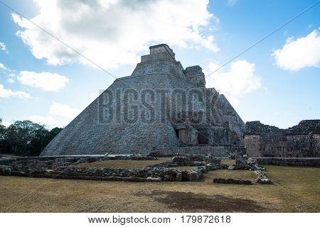 Archeology zone - Zona arqueologica Uxmal in Mexico