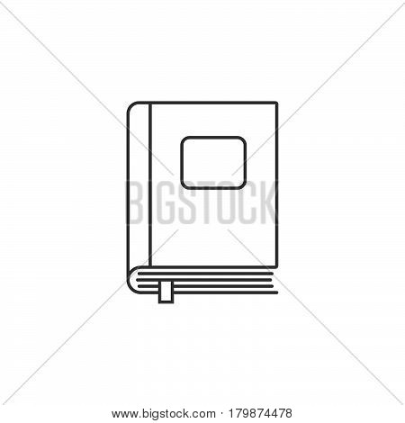 Closed book thin line icon outline vector logo illustration linear pictogram isolated on white
