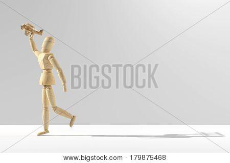 Wooden Mannequin Prototype Of Human