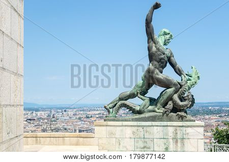 Dragon Slayer On Gellert Hill, Budapest