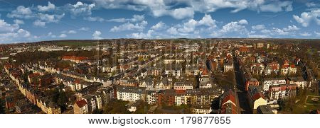 Zwickau aerial view old town germany landscape