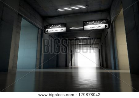 Sports Stadium Tunnel