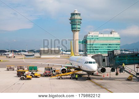 Hongkong - Nov 20 : Hong Kong International Airport On November 20, 2016 In Hong Kong.this Airport I