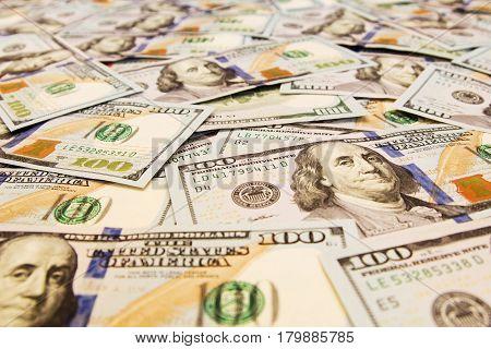 A lot of dollar bills. money Background