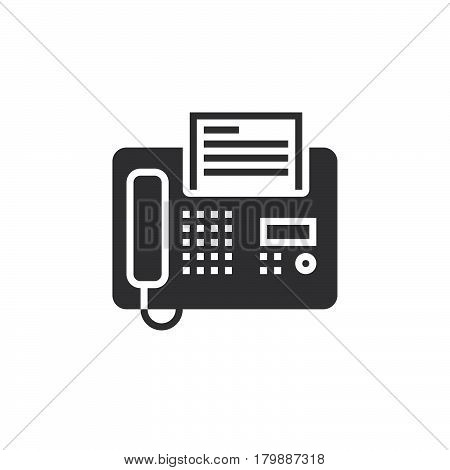Fax icon vector telefax solid logo illustration pictogram isolated on white